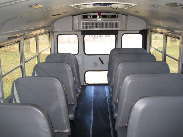 how to clean the inside of a school bus