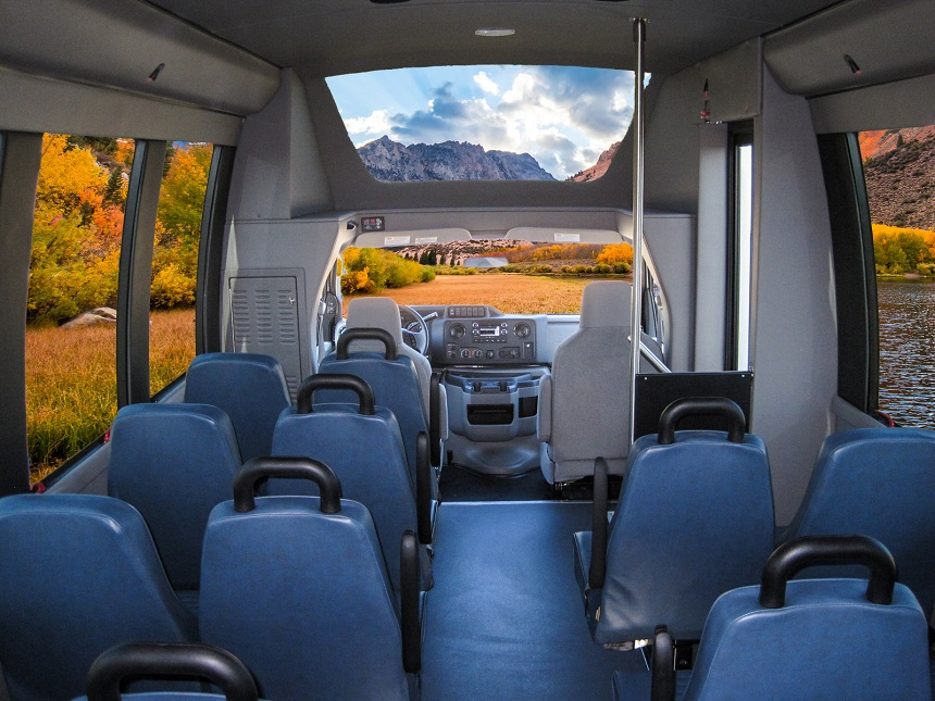 handicap buses for sale, passenger viewing Glass