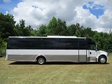executive freightliner bus with restroom