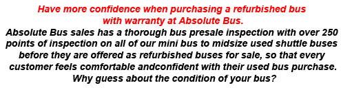 Texas, TX buses for sale, Absolute Bus Sales